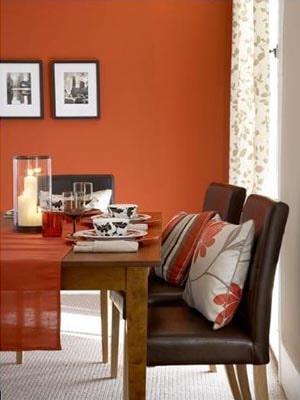 burnt orange house color idea