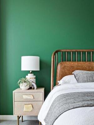 kelly green wall paint color idea