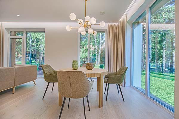 Velvet feels inviting for autumn for living room space